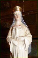 Ancienne Vierge de Pontmain en Porcelaine Biscuit Polychrome XIX eme