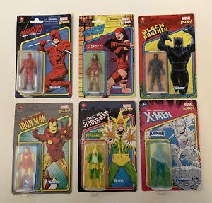 "Marvel Legends Kenner Classic Figure 3.75"" Lot Of 6 Wave 2 Black Panther Iceman"