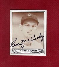 BARNEY McCOSKY Autograph MLB 1939-53 Auto Signed TIGERS FORGOTTEN HERO 1940:.340