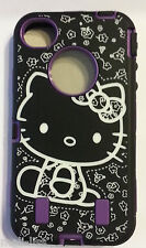 Hello Kitty Purple Hard Cover Case with silicone Skin for iPhone 4- 4S