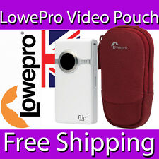 Lowepro Pocket Video Pouch 20 Case Neoprene Micofibre 8.5 X 3 X 13.5 Cm Red