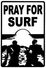 PRAY FOR SURF STICKER SURFBOARD BEACH CAR VAN STICKER