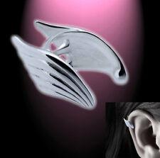Ohrklemme Ohrring Ohrclip Flügel Helix versilbert