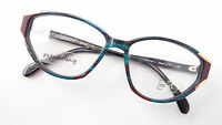 Brille Brillengestell Katzenaugen Form dunkle Farben Marke OWP lunettes GR. M