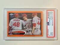 2012 Topps Chrome Orange Refractor Mike Trout #144 graded PSA 9 Mint