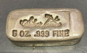Silvertowne 5 oz. .999f Poured Silver Bar With Serial Number