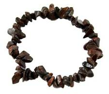 Bracelet Chip Red Tiger Eye Elasticated 7 Inch