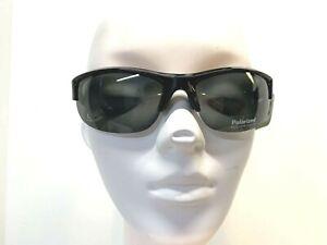 Solar Comfort Polarized Sunglasses Wear Over Glasses - Size L- FREE CASE  (C-16)