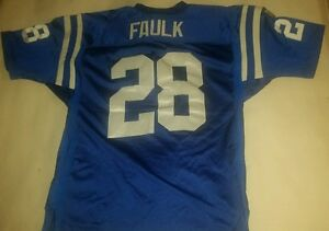 Marshall Faulk Wilson Authentic Collectible NFL Jersey Indiana Colts #28 MVP XXL