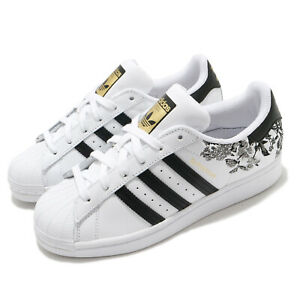 adidas Originals Superstar W Floral White Black Gold Women Classic Shoes FX3600