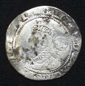 1595 Great Britain, Elizabeth I, Sixpence, Hammered Coin, Ships for Free