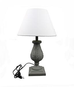 Landhaus Holz Nachttischlampen 19-8 Schreibtischleuchte Antik 50 cm Lampe