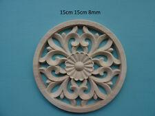Décoratif en bois grande décoration Cercle Applique Furniture Mouldings F622