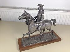ancienne sculpture 1920 art deco cavalier en regule  cheval vintage napoleon