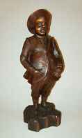 "Old Antique Vtg Early 20th C Large 24"" Sancho Panza Wood Carving Figure Very Nic"