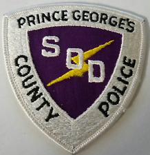 Prince George's County Police SOD Special Operations Division Cloth Patch