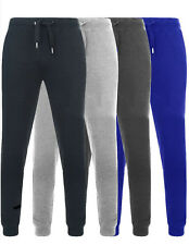 Mens slim fit Joggers Track jog Pants Tracksuit Jog Bottoms Fleece  S-M-L-XL