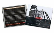 Derwent Graphic Pencils 24 Tin Set for Drawing & Sketching 9H - 9B