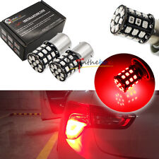 2x Red LED Bulbs for Car Taillight Tail Brake Stop Lights 1156 P21W 7507 BA15S
