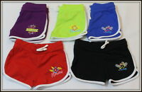 Girls Short Sport Shorts Gym Summer Flowers 2 3 4 5 6 7 8 9 10 11 12 13 14 age
