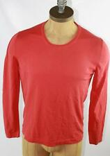 AUTH $695 Gucci Men's Red Long Sleeve T Shirt M
