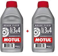2X Liquide De Frein Motul DOT 3 & 4 Voiture Moto Quad Scooter 500ml