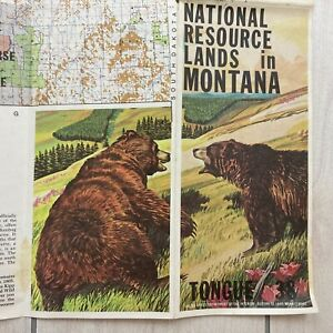 Vintage Montana Maps x 5 Natural Resource Forest Land BLM 1970s