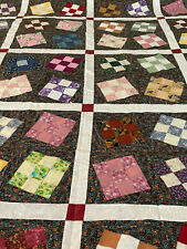 Wonky 9 patch quilt top - Ready for Quilting- Adorable!! FAST SHIP