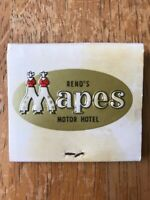 Mapes Motor Hotel Money Tree Reno Nevada Vintage Matchbook Travel Souvenir