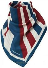 Cafe Racer Motorcycle Retro Neck Scarf Bandanna Red White Blue