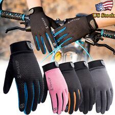 Outdoor Sports Gloves Men Women Non-slip Cycling Hiking Bike Full Finger Mittens