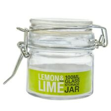 48 X Mini Small Glass Jars 100ml With Clips Wedding Favours Bomboniere Lolly Jar