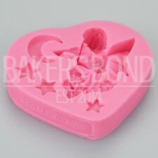 Flower Fairy Playing Violin Silicone Mould Fondant Cake Decorating Sugarcraft