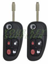 2 New Keyless Remote Flip Car Key Fob NHVWB1U241 for select Jaguar