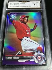 2017 Bowman Chrome Victor Robles /250 Purple Refractor Rc Graded 10 💎