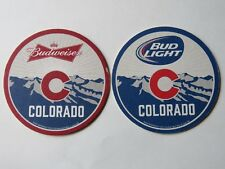 Beer Coaster Pub Mat ~*~ ANHEUSER-BUSCH Budweiser ~ Bud Light ~*~ Enjoy COLORADO