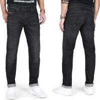 Diesel Herren Slim Fit Stretch Jeans Hose Grau Schwarz |Thavar XP R8AM7
