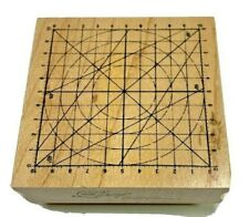 Club Stamp Rubber Grid Circle Compass 2004 Wood Mounted 2004 New