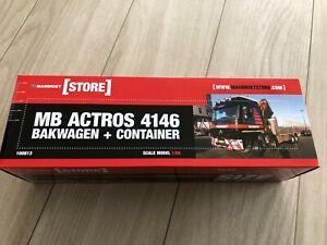 1:50 MB Mammoet Actros 4146 Bakwagen + Container / WSI 02-1472 / 410076