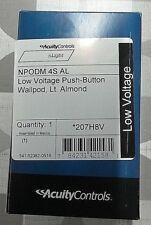 ACUITY CONTROLS - nLIGHT (NPODM 4S AL) 4 BUTTON WALLPOD SWITCH - LIGHT ALMOND