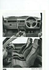 Ford Fiesta RS Turbo Interior Original Press Photograph Excellent condition