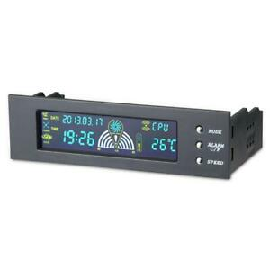5.25in Bay Front LCD Panel 3 Fan Speed Controller CPU Temperature Sensor for PC