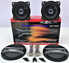 """Pair 4"""" inch Quality Coaxial 2-Way Car Audio Stereo Radio Replacement Speakers"""