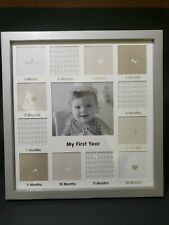 My First Year Baby Picture Frame Silver Plastic 1 - 12 Months