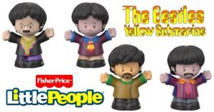 Fisher-Price The Beatles Yellow Submarine by Little People Mini Figures NEW