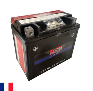 Batterie 12V 10Ah Power Thunder YTX12-BS CTX12-BS GTX12-BS - moto quad