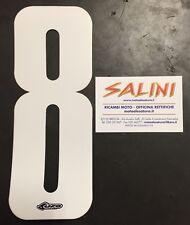 Numeri adesivi gara moto cross - UFO otto bianco