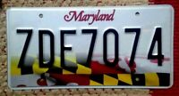MARYLAND LICENSE PLATE 'STATE FLAG' GRAPHIC AUTO TAG (RANDOM PLATE # NUMBER) MD