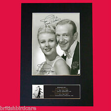 FRED & GINGER Signed Reproduction Autograph Mounted Photo Print A4 599