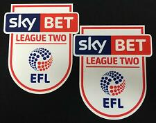*16 / 19 - ENGLISH FOOTBALL LEAGUE 2 / 2 x ARM PATCHES = PLAYER*